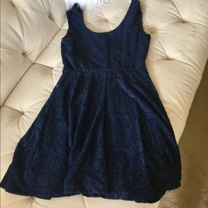 Candie's Dresses - Candie's Navy Lace Top Dress